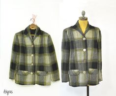 Vintage 50s Pendleton Jacket • Plaid Wool Jacket • Classic Pendleton 49ers Jacket • Vintage 1950s Wool Jacket • Vintage Plaid Jacket • 1950s ➳ Aligras Vintage on Etsy