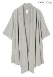 wildcard // AnnaKastle Women's Kimono Sleeve Cotton Wrap Cardigan size S-M in Gray Wrap Cardigan, Sweater Cardigan, Cardigans For Women, Duster Coat, Kimono, Icebreaker, Grey, Casual, Sweaters