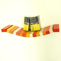 Wood floating wall shelf red and yellow tones by MustHaveRo Woodworking, Diy, Bags, Colors, Fashion, Handbags, Moda, Bricolage, Fashion Styles
