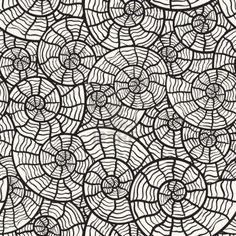 Seamless pattern monochrome avec coquillages Banque d'images