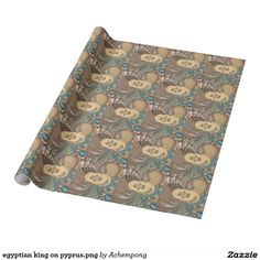 egyptian king on pyprus.png wrapping paper