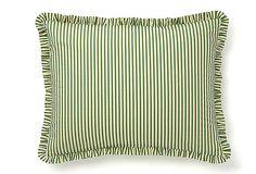 Maison Versailles Striped Std Sham, Green  $ 49,00  Retail $ 110,00
