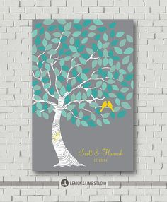 Hey, I found this really awesome Etsy listing at https://www.etsy.com/listing/177097820/wedding-guest-book-signature-tree