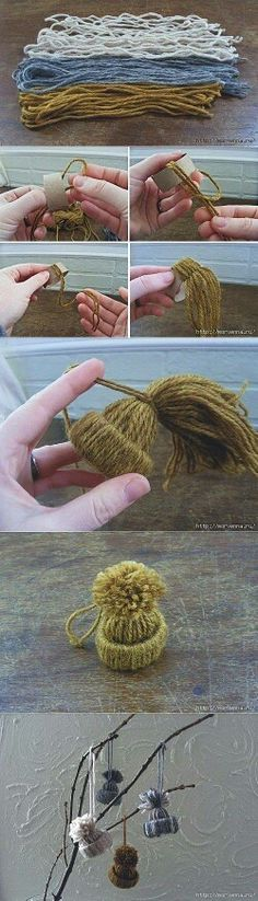 Pom pom hat decorations