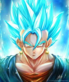 animé : Dragon Ball / Vegito Blue by H-Battousai / http://h-battousai.deviantart.com/art/Vegito-Blue-647952118