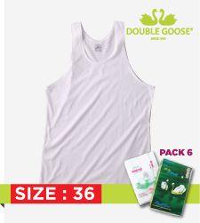 211 เสื้อกล้ามบุรุษสีขาว Pack 6 ขนาด 36