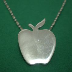 Apple Silhouette Sterling Silver Necklace