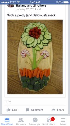 Flower veggie tray