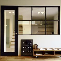 Office entry inspiration in front entry Interior Windows, Interior Furniture, Interior Deco, Glass Room Divider, Office Interior Design, Interior Renovation, Decorative Room Dividers, Interior Architecture, Glass Room