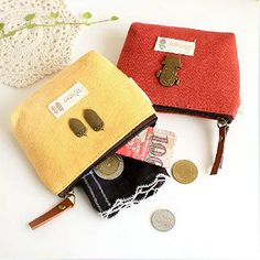 Women's Kid's Vintage Canvas Coin Purse Zipper Keys Pouch Wallet Money Bag Gift  BVW2 #Affiliate