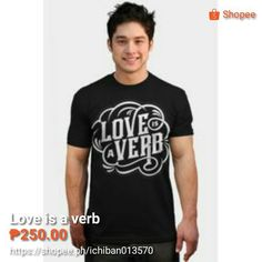 Love is a verb Love Is A Verb, Instagram Posts, Projects, Mens Tops, T Shirt, Log Projects, Supreme T Shirt, Blue Prints, Tee Shirt