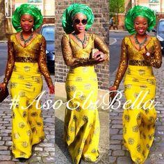 @nikeace #ankara #lace #blackandyellow asoebibella african attire #nigerian wedding ootd gorgeous modest look
