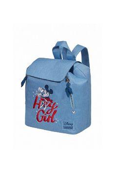 Batoh pro menší cestovatelky od Disney s Minnie Disney, Fashion Backpack, Indigo, Blues, Barbie, Backpacks, City, Indigo Dye, Backpack