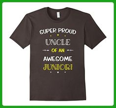 Mens Super Proud Uncle Of An Awesome Junior Shirt School Large Asphalt - Relatives and family shirts (*Amazon Partner-Link)