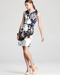 Elie Tahari Clover Printed Ruffle Dress | Bloomingdale's