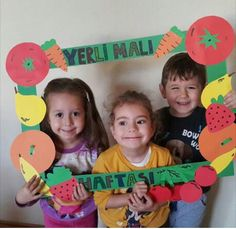 Yerli malı haftası ❤️ Group Activities, Activities For Kids, Crafts For Kids, Kindergarten Crafts, Preschool Themes, Photo Props, Photo Booth, Group Meals, Games For Kids