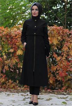 Tesettür kap / Bolero Görünümlü Siyah-8368