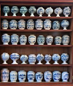 Hoffbrand Collection English delftware apothecary jars 1640-1745. Royal College of Physicians