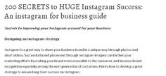 The most comprehensive free guide to marketing your business on instagram and how to properly set up your instagram for your business.