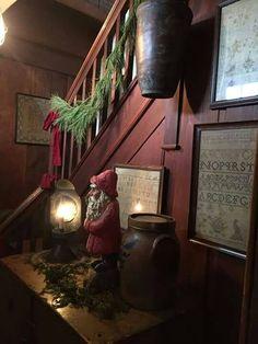 Colonial primitive interior