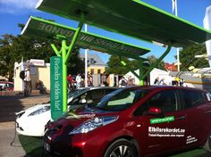 One solar station by Solelia Greentech can charge up to two cars. #EVcharging #DrivingWithTheSun