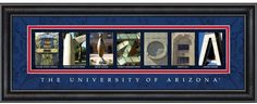 The University of Arizona Letter Art.  Go Wildcats! Want! Have to get one of Michigan too for Jon:)