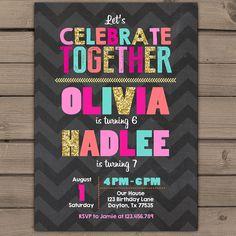 Cumpleaños niñas conjunto cumpleaños fiesta por Anietillustration