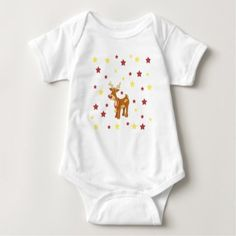 Rudolph the red nosed reindeer Christmas stars Baby Bodysuit - red gifts color style cyo diy personalize unique