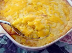 You can make this Blue Ribbon winning corn casserole in 40 minutes with only 10 minute prep time. Directions for Corn Casserole: Preheat oven to 350 degrees. Combine all ingredients but half of the cheese in a bowl. Pour into a large, greased baking dish. Corn Casserole, Casserole Recipes, Casserole Dishes, Corn Salsa, Vegetable Side Dishes, Vegetable Recipes, Cooking Vegetables, Easy Roast Chicken, Crock Pot Recipes