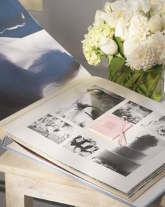 bridal shower idea - photo album for the bride.  guests bring a photo of them with the bride and caption it :)