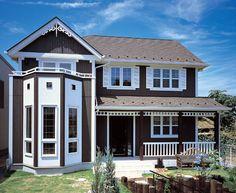【検索結果】わが家の壁サイト-外観・内壁コーディネートサイト(ニチハの住宅施工例集)- Ideal Home, Mansions, House Styles, Home Decor, House Beautiful, Houses, Mansion Houses, Homemade Home Decor, Ideal House