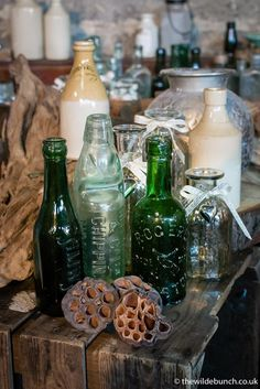 Perfect for Wilde Bunch designs at the stone barns of The Cotswolds & Somerset Wedding Props, Wedding Decorations, Wedding Ideas, Barn Wedding Flowers, Kingscote Barn, Stone Barns, Antique Bottles, Event Styling, Somerset