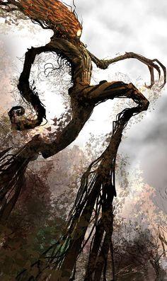 By Alex Ruiz: Treeman Digital Art - Treeman Fine Art Print