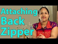 Class 14 - How to attach zipper to a dress without a seam / Easy, neat and professional finish Dress Tutorials, Sewing Tutorials, Sewing Projects, Video Tutorials, Clothing Patterns, Sewing Patterns, Stitching Classes, Sewing Courses, Shirt Tutorial
