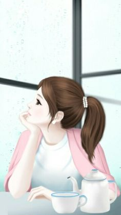 Image about girl in Korean Anime by 아이돌 - 얼짱 on We Heart It Cartoon Girl Images, Girl Cartoon Characters, Cute Cartoon Girl, Anime Girl Cute, Anime Art Girl, Cute Girl Drawing, Cartoon Girl Drawing, Lovely Girl Image, Girls Image
