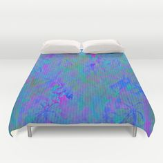 Night Time Floral Abstract Duvet Cover by Judy Palkimas