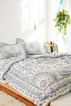 Plum & Bow Mia Medallion Duvet Cover - Urban Outfitters