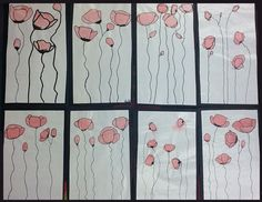 artisan des arts: Droopy poppies for Remembrance Day - grade Remembrance Day Drawings, Remembrance Day Activities, Remembrance Day Poppy, Autumn Art, Winter Art, Art Aquarelle, Teaching Art, Teaching Resources, School Resources