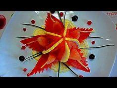 Цветок из помидора! Морская звезда! Карвинг помидора! Starfish! Carving ...