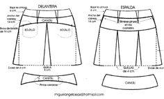 Falda de tablas con canesu