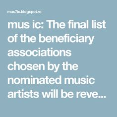mus ic: The final list of the beneficiary associations chosen by the nominated music artists will be revealed during the event. #2ndWishMusicAwards…