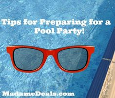 Pool Party Tips + FREE Pool Party Printable Invitations