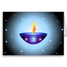 Diwali lamp - Card
