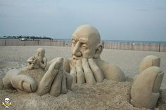 Esse artista cria as mais alucinantes esculturas que você já viu na areia