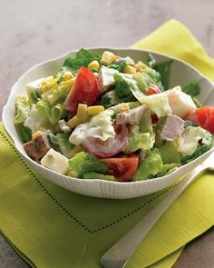 Chopped Salad with Spicy Pork and Buttermilk Dressing Recipe