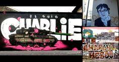 Quand le street art rend hommage à Charlie Hebdo dans le monde
