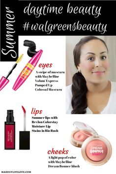 Simple Daytime Summer Makeup.  #walgreensbeauty #Collectivebias- #cbias #ad #shopeauty- makeuplifelove