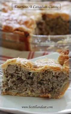Tourtière, A Canadian Classic. So simple. So delicious! Don't save it just for Christmas. Make it TODAY!  CLICK THE PIC www.bestillandeat.com for more SIMPLY.GORGEOUS.FOOD