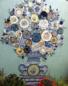 Mosaic with plates