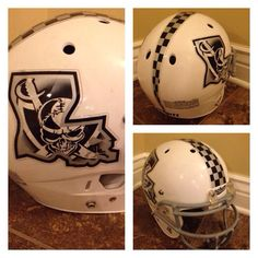 Check out the awesome football helmet decals we designed for the St. Bernard Raiders Age 9/10 football team located in St . Bernard Parish, Louisiana. Good luck this season! Look great, play great! #footballhelmetdecals #footballdecals #customhelmetdecals #helmetdecals #helmetswag #uniswag #healyawards